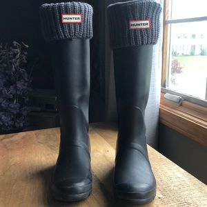HUNTER Boots with Brand New Socks